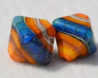 Artisan Lamp Work Beads- Lot 663