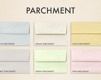 A6 Invitation Envelopes (4 3/4 x 6 1/2) - Parchments Collection (50 Qty.)