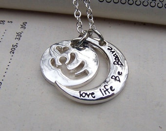 Motivational Jewelry Gift for Friend Necklace Silver Family Inspirational Necklace Daughter Necklace