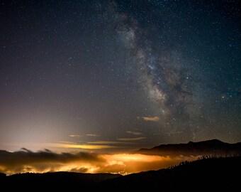 Milky Way Rises Over Colorado Springs