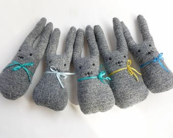 Wool bunny toy Waldorf inspired ready to ship