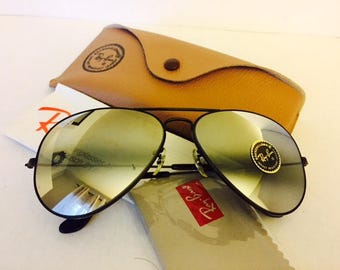 vintage aviator ray ban NOS bausch lomb usa 62mm w/ case
