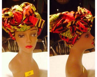 Ankara Head wraps/African clothing/ Fabric/African Fabric/ Ankara Head Wrap