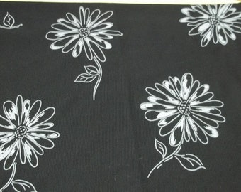 black fabric,vintage fabric with white flowers,black sheer Fabric,B-101,black fabric,white flowers,sewing,crafting projects,costume making