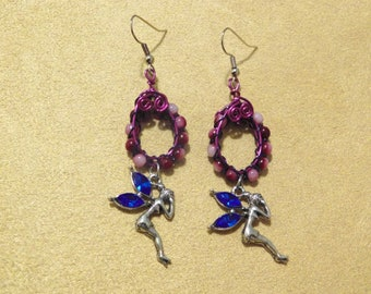 Beads & Fairy Earrings
