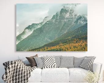 "large canvas wall art, large wall art, large colorful landscape wall art, landscape on canvas, large art, mountain landscape, art - ""Ascent"""