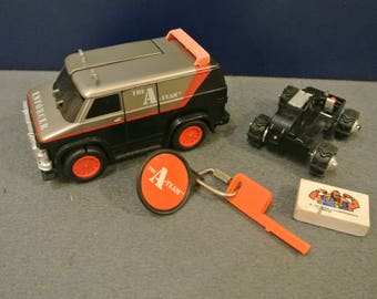 Vintage A-TEAM Rough Riders Switch Force Enforcer Van 1983 LJN with extras