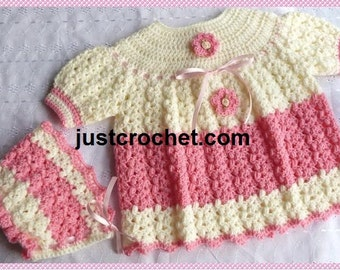 Angel Top and Bonnet Baby Crochet Pattern (DOWNLOAD) 101