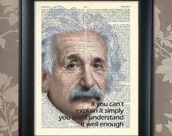 Einstein Print, Einstein Quote, Einstein Poster, Einstein art, Einstein wall art, Einstein Decor, Albert Einstein, Scientist, Relativity