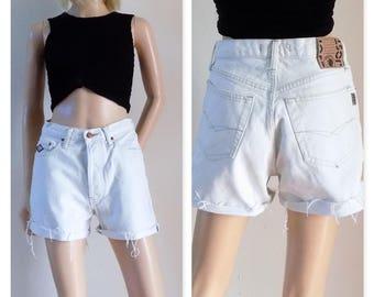 Cut off cream jean shorts Jost high waist cut off shorts size 28 inch waist (71cms)