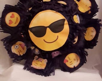 Emoji Emoticon sunflower Piñata. Handmade. New