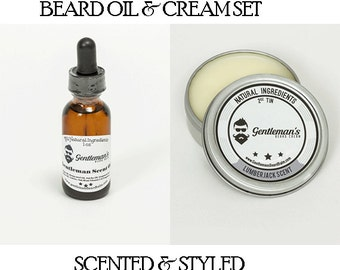 Beard Oil and Cream Kit - Choose Scents