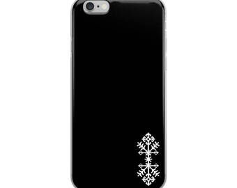 iPhone Case with ornaments, iPhone X, iphone 8 plus case, iphone X case, iphone 7 plus case, iphone 7 case, iphone 6 plus, black, gift
