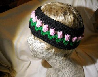 Tulip Earwarmer Headband Crochet