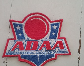 Dodgeball Embroidered Patch, ADAA- American Dodgeball Association of America