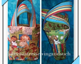 Art Tote bag great for carrying art supplies to a class or to a group function or just to keep everything together