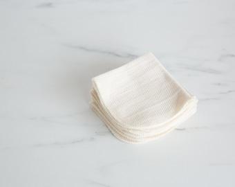 Organic Birdseye Cotton Dish Cloth, Wipe-two ply, Eco Friendly -- Set of 8, Choice of Thread