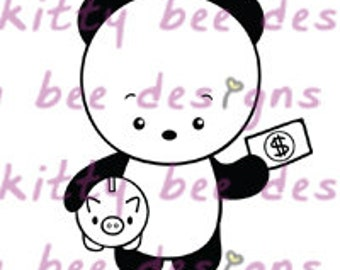 Pay Day Panda Digital Stamp