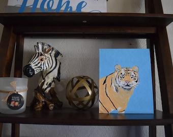 Tiger panel painting. 8x10 canvas panel.