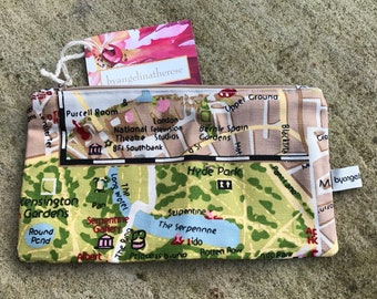 Make-up bag in a London fabric.
