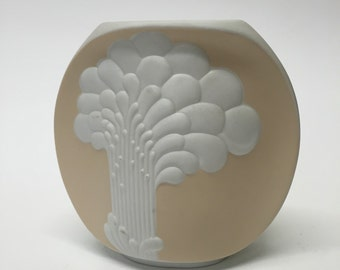 Kaiser Op Art Bisque Vase