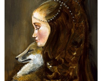 Raiponce et son renard - grande impression