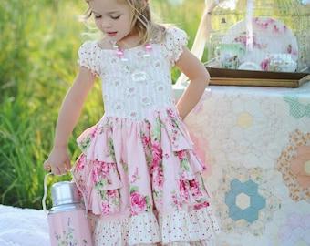 Buy 2 Get 1 Free.....Instant Download PDF Sewing Pattern Tutorial Sugarplum Princess Girl's Dress, 6-12m to 10