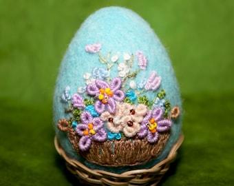 Needle Felted/ egg/ Easter decoration/Easter ornament/handmade gift