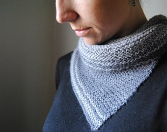 SERRATE Cowl Knitting Pattern PDF