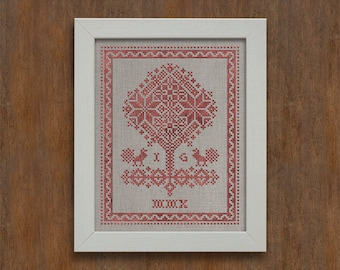 Tree of Life - Instant Download PDF cross-stitch embroidery pattern