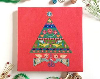 Merry and Bright - Satsuma Street Christmas Tree - modern cross stitch pattern PDF - Instant download