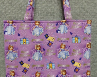 Sofia the First Tote Bag/Book Bag/Preschool Tote