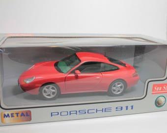 1964 Sun Star Porsche 911 Carrera Coupe 1:18 Scale Die Cast 1204 New in Box
