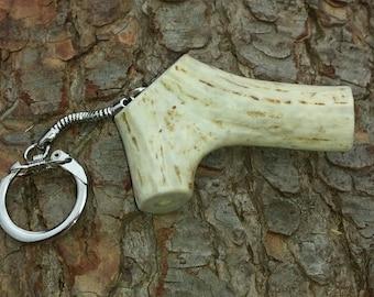 Whitetail Deer Antler Key Chain (#3)