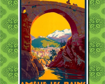 Europe France Travel Poster Wall Decor (7 print sizes available)
