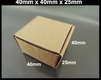 Kraft Paper Boxes - 10pcs Brown Kraft Boxes Mini Paper Box Gift Boxes Gift Wrapping 40mm x 40mm x 25mm