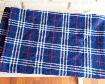 Blue White and Red Plaid Flannel Baby Blanket - Americana Baby Blanket - Receiving Blanket - Nursing Blanket - Baby Shower Gift under 25