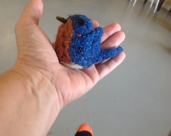Felted Eastern Blue Bird Large but Mini