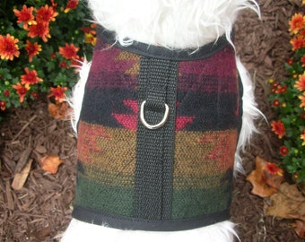Southwest Small Dog Harness, Blanket pattern, Made in USA, dog harnesses, pet clothing