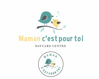 bird logo, baby logo, kindergarten logo, kids clothing logo, childcare logo, daycare logo, boutique logo, Photography logo, Affordable logo