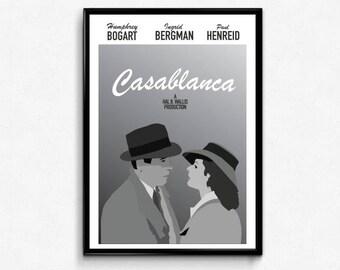 Casablanca Minimalist Art Poster