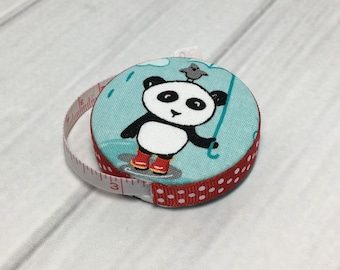 Pandas In Love (A) Fabric Covered Retractable Tape Measure