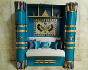 Furniture for Monster High Dolls. Cleo de Nile, Nefera de Nile Monster High   Living room set .  1:6 Scale. In single copy. Egyptian style.