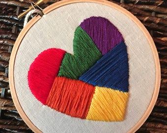 """4"""" Pride Heart"""
