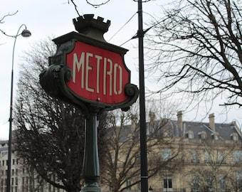 Vintage Parisian Metro Sign (Digital File)