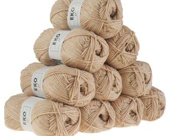 10 x 50g knitted Yarn eko fil, #022 Beige