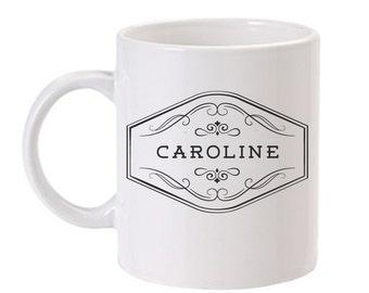 Personalized Coffee Mug   Personalized Mug   Custom Coffee Mug   Monogram Coffee Mug