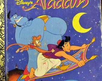 """Vintage Children's Book """"Disney's Aladdin"""" Reading for Children 5 for 10 Bucks"""