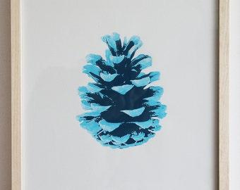 Cone-blue, screen printing