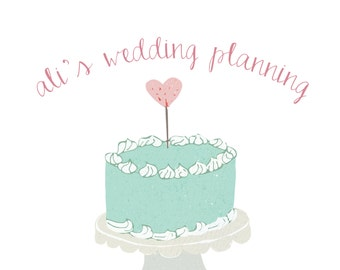 Premade Business Logo Design - for wedding planners business owners - shop owners - cake design - pastels